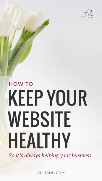 How To Make Your Website Healthy | Ali Rand