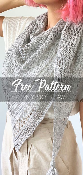 Stormy Sky Shawl – Pattern Crochet