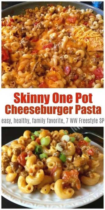 Check out this Skinny One-Pot Cheeseburger Pasta Skillet is a comfort food favorite made with lean ground beef, chicken broth, tomatoes, and macaroni & cheese – only 340 calories, 7 Weight Watchers Freestyle SmartPoints!  #simplenourishedliving   #ww   #weightwatchers     The post  Skinny One-Pot Cheeseburger Pasta Skillet is a comfort food favorite made with lean ground beef, chicken broth, tomatoes, and macaroni &  ..