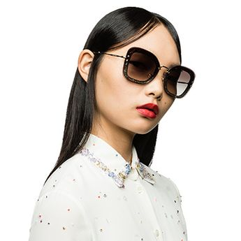 a8ca023b33b Miu Miu Reveal oversized glitter frames MiuMiu GRADIENT ANTHRACITE GRAY  LENSES  sunglasses  luxury
