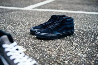 d0edec6ee5 VANS X MADNESS SK8-MID Yu Wenle joint skateboard shoes to help black and  blue