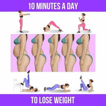 Verlieren Sie das Gewicht mit 10-Minuten-Training zu Hause
