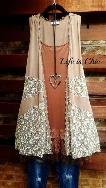 TAGE MIT DER SPITZENWESTE IN TAUPE – Life is Chic Boutique