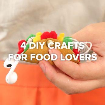 4 DIY Crafts For Food Lovers #DIY #simple #food #craft