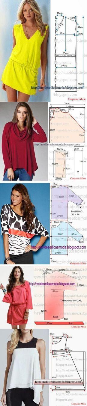 ¡Interesante al modelo y los patrones simples! | el MUNDO FEMENINO