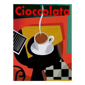 Cioccolata, Italian Hot Chocolate Poster | Zazzle.com