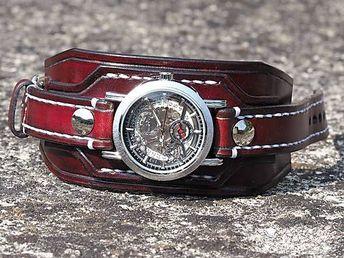 77a19b45c Mahagónový kožený remienok na hodinky / leon - SAShE.sk - Handmade Šperky