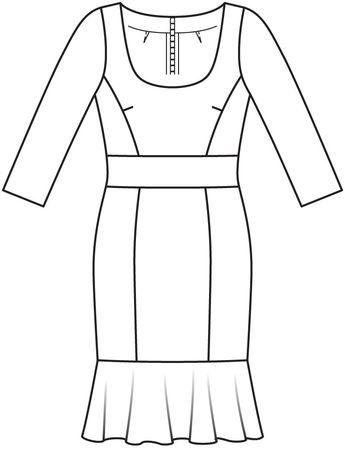 5ac93e3a2305023 Платье с рукавами 3/4 - выкройка № 112 В из журнала 2/2016