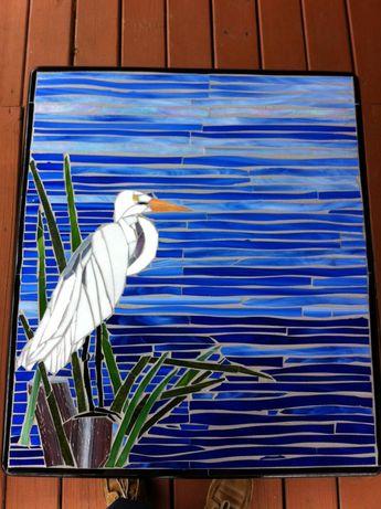 Bird In Blue by Savanna Beach Mosaics - Delphi Artist Gallery