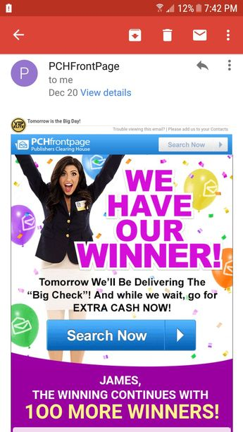 "PCH I RROJAS CLAIM MY ENTRY TO WIN $7,000 00 A Week ""Foreve"