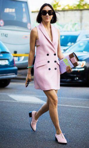 Vestido blazer – é uma peça muito elegante e estilosa.