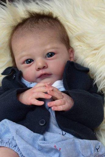 CUSTOM MADE Reborn Doll Baby Girl or boy Tony by Gudrun Legler 18 inches 4-6 lbs Full arms & legs (Reborn Babies)