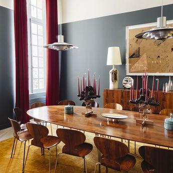 #midcentury mood. {#interiordesign by @pierre.yovanovitch, 📷 by @jeromegalland via @ad_magazine} #interiors #diningroominpsiration