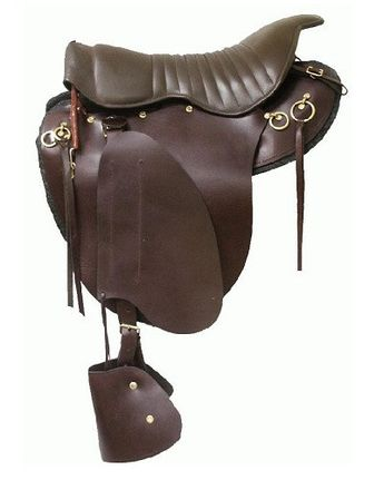 Royal King Roughout Training Saddle with Suede Seat
