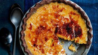 Brûléed Bourbon-Maple Pumpkin Pie