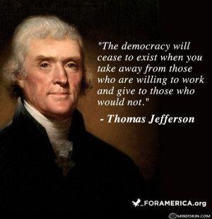 Thomas Jefferson - Interesting statement.