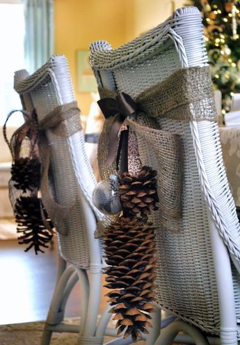 Simple Cute Winter and Christmas Decor for 2017: 12.DIY NatureInspired Dining