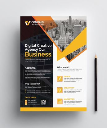 Stylish Print Flyer Template - Graphic Templates
