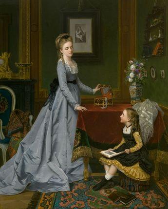 The Jewelry Box Painting   Jan Frederik Pieter Portielje Oil Paintings