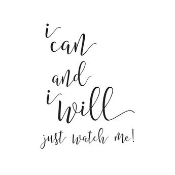 Printable Women Gift, Printable Word Art, I Can and I Will, Motivational Printable,Gift for Her,Boss Lady,Typographic Print,Instant Download