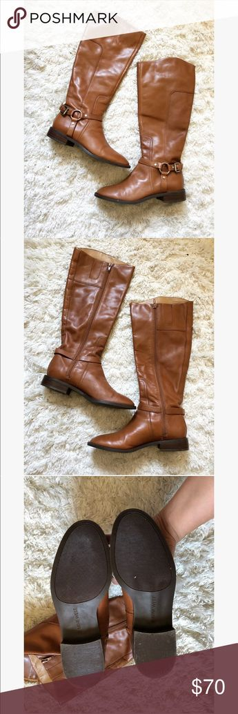 38e8ed2ed7 Nine West Leather Riding Boots in Brown Nine West Batley Harness Rising  Boots in Brown Excellent