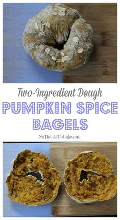 Two Ingredient Dough: Pumpkin Spice Bagels
