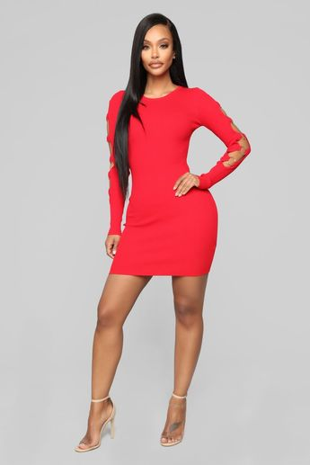 0270b39f522 The Ring Leader Mini Sweater Dress - Red