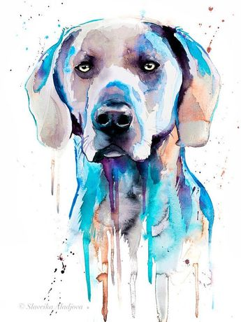 German Shorthaired Pointer 8x10 Print DOG Painting by Sherry