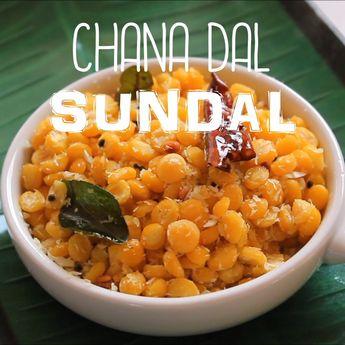 Chana Dal Sundal - Kadalai Paruppu Sundal