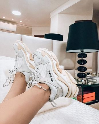 Balenciaga Trainers Accessories Outfit Style OOTD Ideas Fashion Blogger White Instagram Instastyle