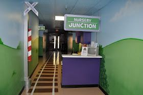Worlds of Wow Blog: Fun Train Theme for Aldersgate UMC, College Station, TX