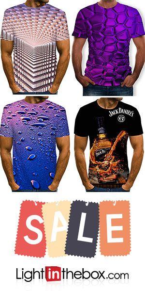 Men's Weekend Street chic Plus Size T-shirt - 3D