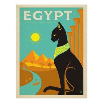 Egypt Cat Postcard | Zazzle.com