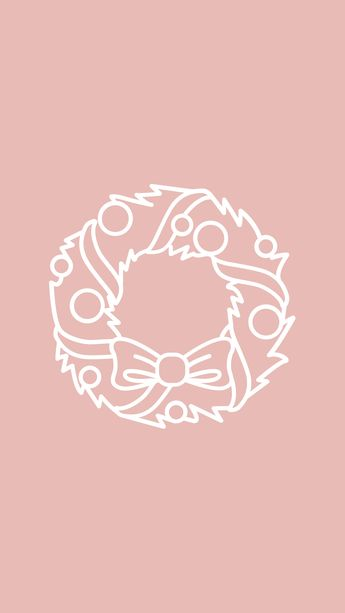 Christmas Icon For Instagram Highlights.Pink And White Xmas Instagram Stories H
