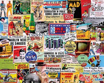 The Fabulous 50's - 1000 Piece Puzzle-White Mountain Puzzles
