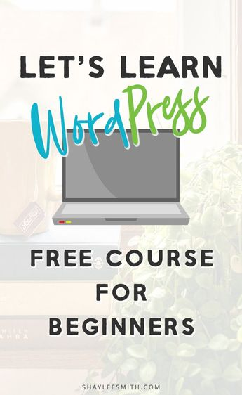 Are you new to #WordPress or just find it confusing? Sign up now to join this free course perfect for beginners to WordPress. You'll learn about WordPress.com vs WordPress.org, the Gutenberg editor, the best WordPress plugins, and how to pick a WordPress theme. Learn how to use WordPress for bloggers and business owners! Start a WordPress blog today - start the free course! #wordpressblog #wordpresstips