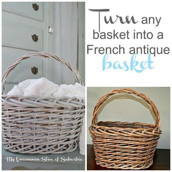 Paint An Old Basket Into A French Antique Basket