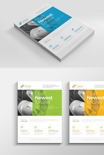 Corporate Clean Flyer Corporate Identity Template #68367