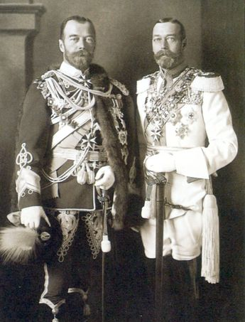 King George V of Great Britain and Tsar Nicholas II of Russia in Berlin, 1913 [944 x 1240]