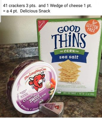 Healthy Weight Watchers points Snack, Crackers and cheese