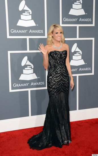 Carrie Underwood in Roberto Cavalli, 2013 Grammys