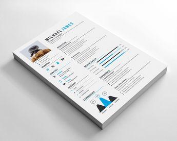Vector Resume Design 002764 - Template Catalog