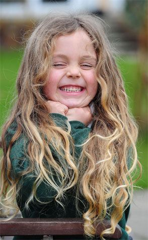 Beautiful Hair and Face... what a ham!  #girl