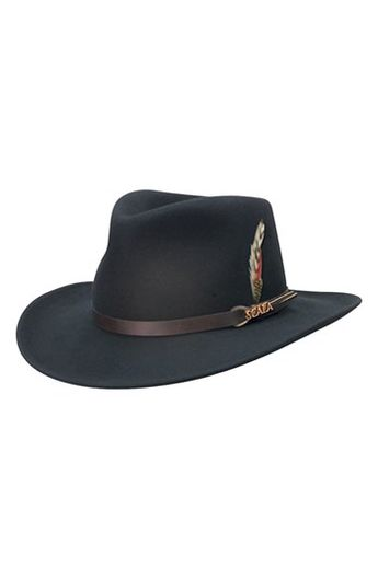 Scala  Classico  Crushable Felt Outback Hat available at  Nordstrom 27f59ea57cfd