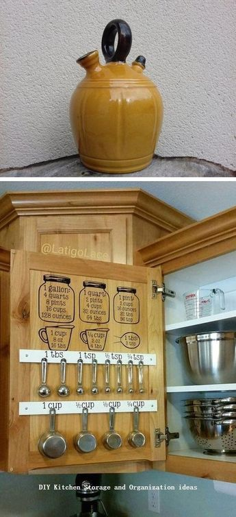 12 Diy Kitchen Storage Ideas For More Space in the Kitchen #kitchen #kitchenstorage