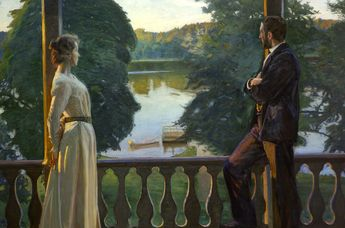 Nordic Summer Evening (1899-1900) - Richard Bergh (Swedish, 1858-1919)
