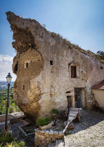 La Domus de Janas di Sedini, Sassari, - caves carved out of the rocks on the island of Sardegna