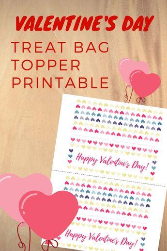 Valentine's Day Bag Topper Printable
