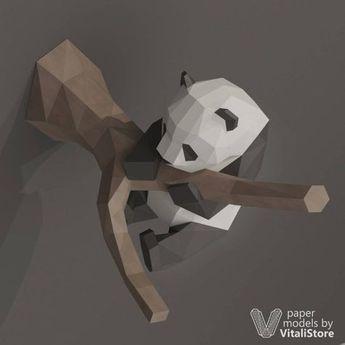 DIY Papercraft Panda 3D Papercraft Panda Panda Gift DIY
