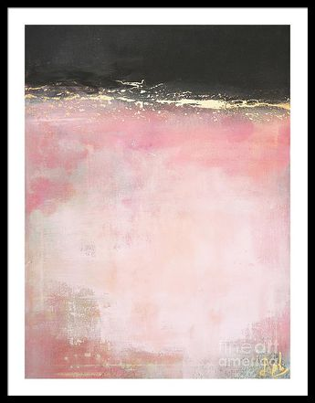 Pink And Gold - Again Framed Print by Anahi DeCanio